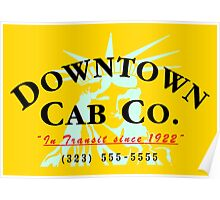 Downtown Cab Company Liberty Poster