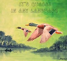 IT'S QUACK IN ANY LANGUAGE by bill holkham
