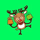 Christmas Reindeer bringing gifts by Zoo-co