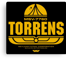 Torrens (yellow) Canvas Print