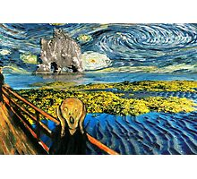 The Scream on the Starry Night Photographic Print
