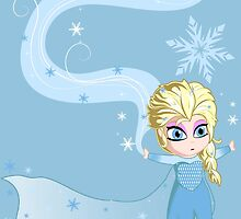 Queen Elsa and her Storm by VanyNany
