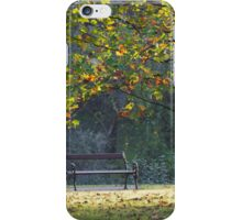 bench and tree in the park iPhone Case/Skin