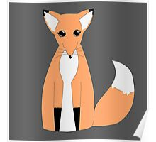 Adorable Simplistic Fox! Poster