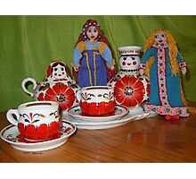 Russian Doll Tea Time Photographic Print