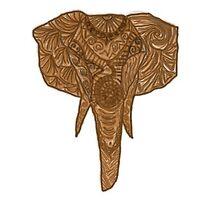 Elephant Head  by zaaranjali