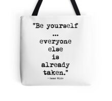 Oscar Wilde Be Yourself Tote Bag