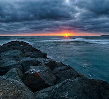 Imperial Beach Cloudy Sunset by Terry Sutlick