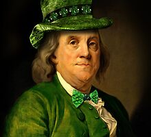 St Patrick's Day for Lucky Ben Franklin   by Gravityx9