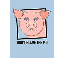 DON'T BLAME THE PIG Photographic Print