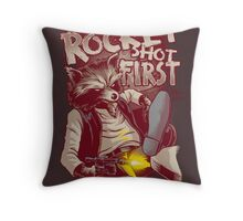 First Shot Throw Pillow