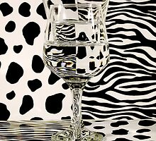Distortion of Spots and Stripes with Glass by Elaine Farmer
