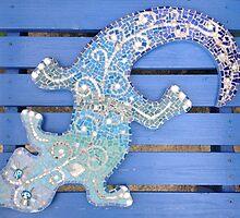 Mosaic Gecko by Elaine Farmer