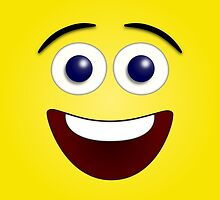 Laughing Yellow Smiley Face by DebiDalio