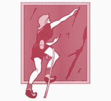 Rock Climbing Woman Abstract by SportsT-Shirts