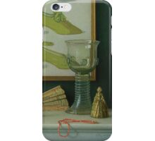 Still life with a coral beads iPhone Case/Skin