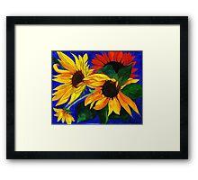 Sunflower Sisters Framed Print