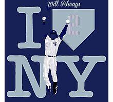 """I will always LOVE NY"" Derek Jeter Photographic Print"