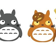 Different Totoro characters of halloween by Fashionuniverse