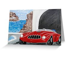 Zoomin Down the Highway in My Red Road Racer Greeting Card