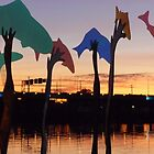 Sunset Art on the Fox River by Mary Kaderabek-Aleckson