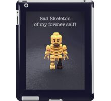 Sad skeleton by Tim Constable iPad Case/Skin