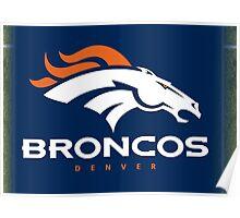 Denver Broncos Football Poster