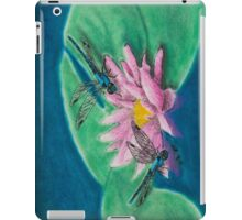 Dragonflies On Water Lily iPad Case/Skin