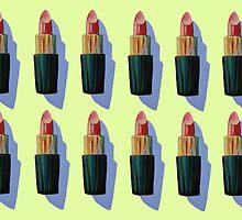 Many Lipsticks by Megan  Koth