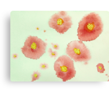 Red Posies 3 Canvas Print