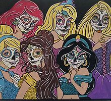 Disney Sugar Skull Princesses by Katherine  OGane