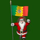 Santa Claus With Ensign Of Los Angeles by Mythos57