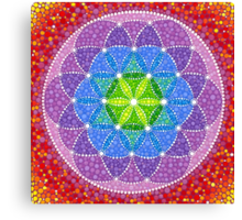 Sunny Flower of Life Canvas Print