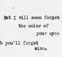 i'll forget the color of your eyes by kittyholocaust