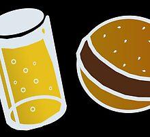 Beer and Hamburger by Flibidi