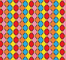 Multicoloured Harlequin by ArtfulDoodler