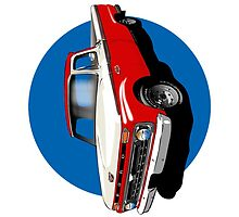 1966 Ford F100 Red & White - iPhone Case by OldDawg