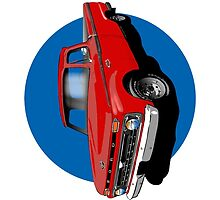 1966 Ford F100 Red - iPhone Case by OldDawg