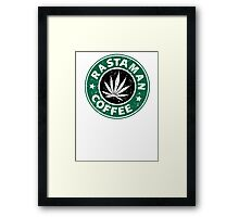 RASTAMAN COFFEE Framed Print