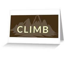 Rock Climbing Greeting Card