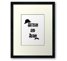 Hatman and Robin - Sherlock Framed Print