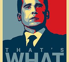 Michael Scott Poster/Throw Pillow by Matthew Younatan