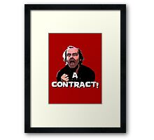 A CONTRACT! The Shining Framed Print