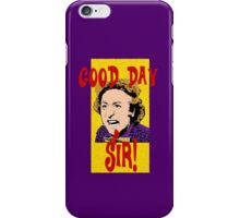 Good Day, Sir! Willy Wonka iPhone Case/Skin