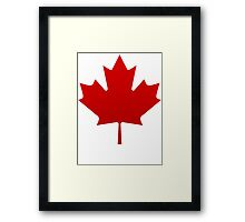 Canada is happening Framed Print