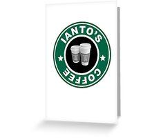 Torchwood- Ianto's Coffee Greeting Card