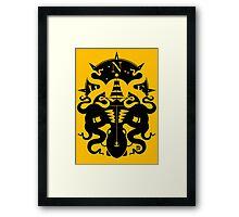 Kraken Monster Framed Print