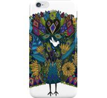 peacock garden white iPhone Case/Skin