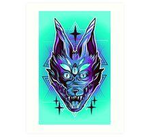 Mystic Wolf  Art Print