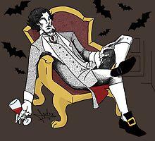 Sherlock - Vampire AU (colour version) by NadddynOpheliah